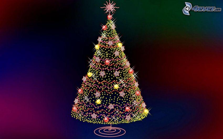 arbre de Noël, lumières