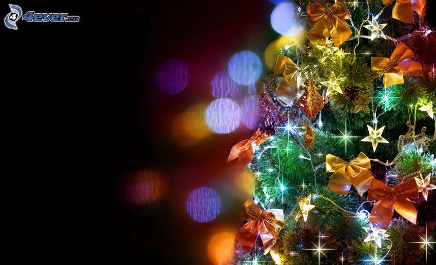 arbre de Noël, rubans