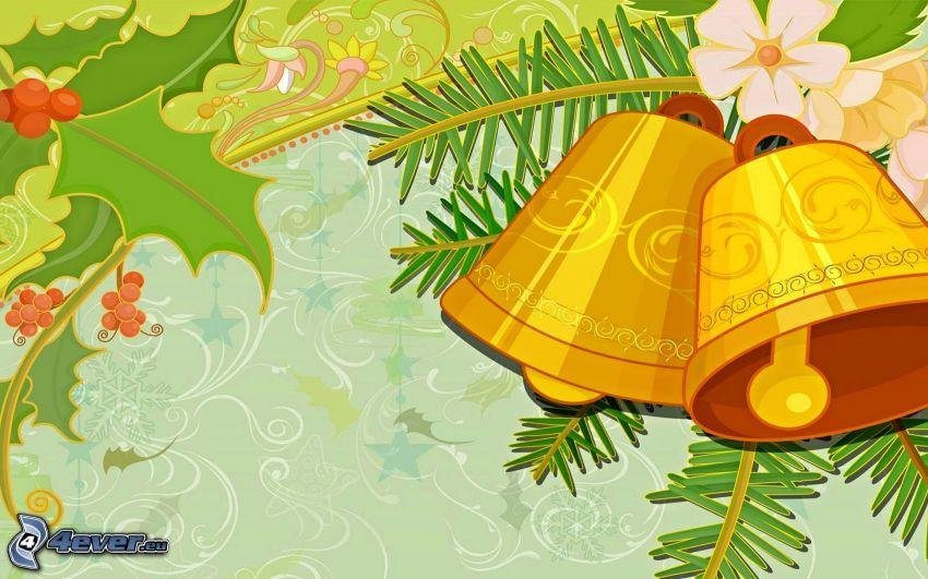 cloche de Noël, dessin animé