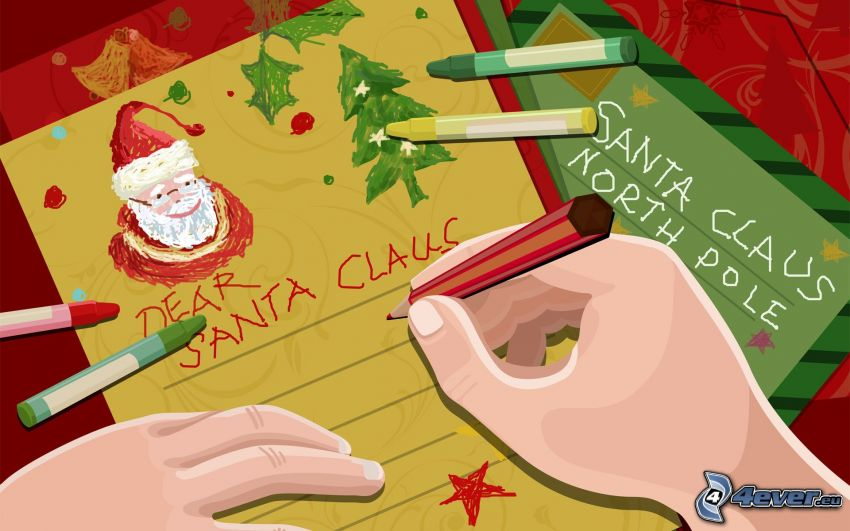 lettre, Santa Claus