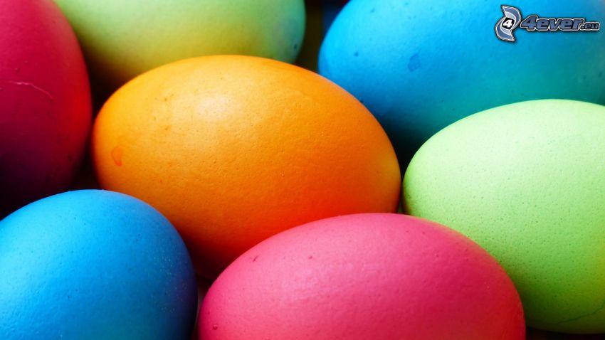 oeufs de pâques, couleurs