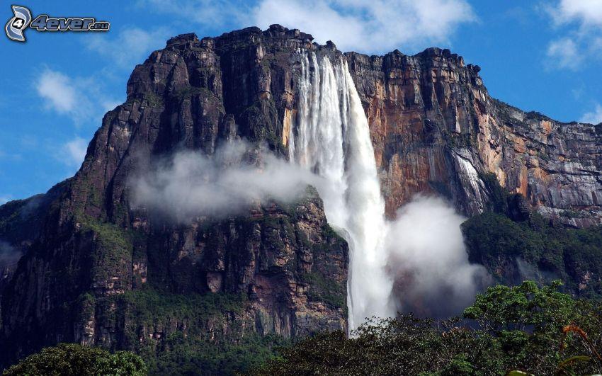 chute d'eau Angel, falaise, Venezuela