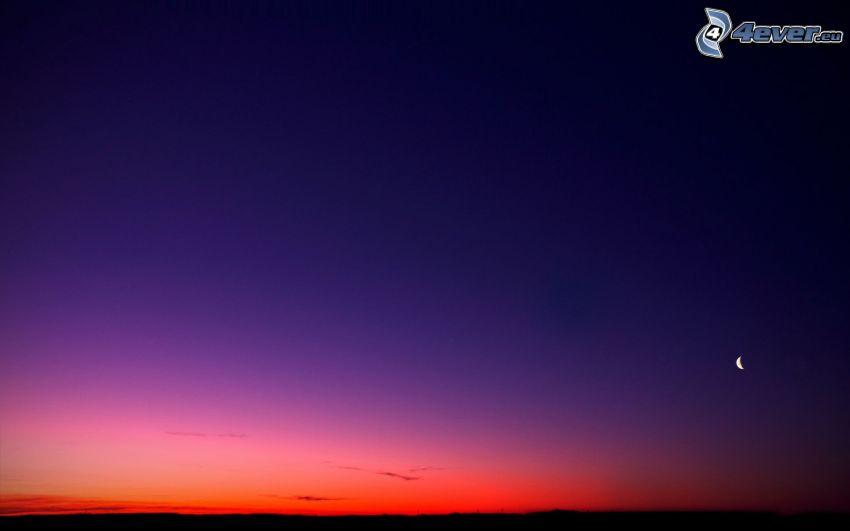 après le coucher du soleil, lune