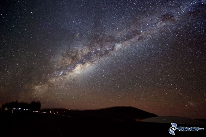 ciel de la nuit, l'horizon