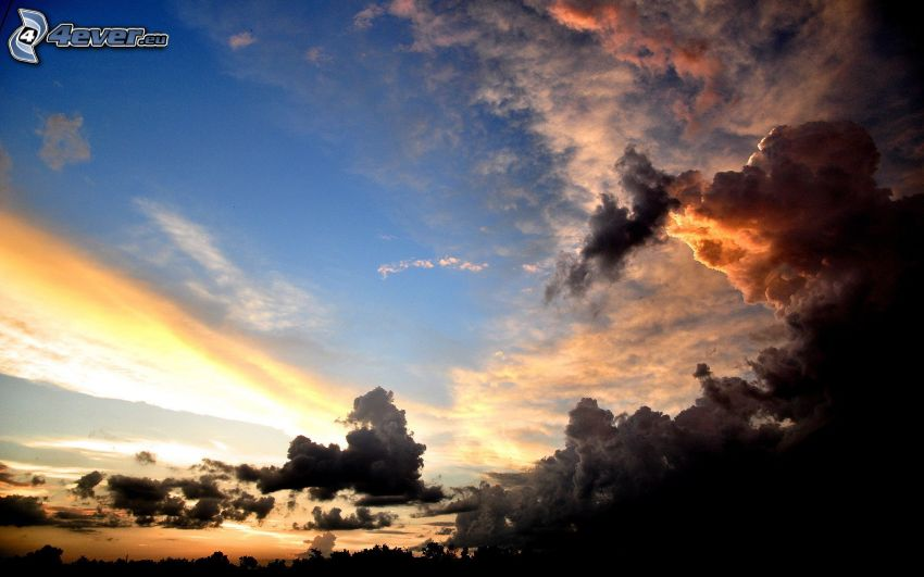 les nuages sombres