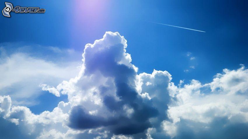 nuages, traînée de condensation