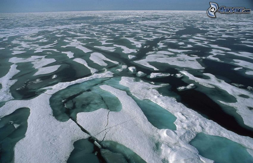 l'océan Arctique, glaciers