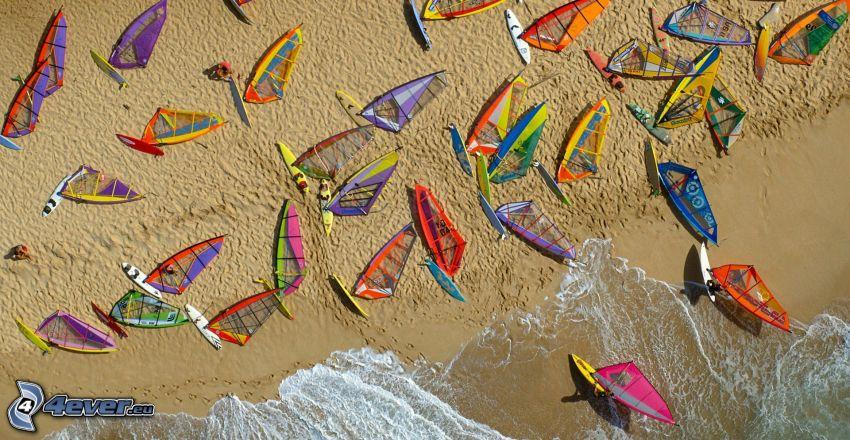 surf, plage de sable, mer