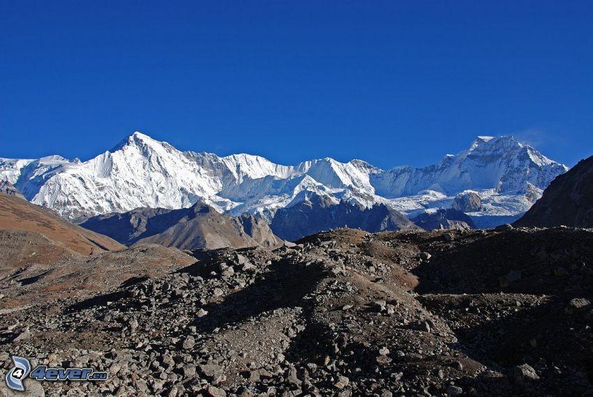 Cho Oyu, montagnes enneigées