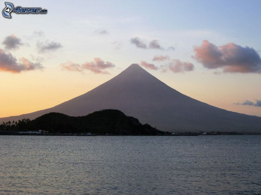 Mount Mayon, mer, Philippines