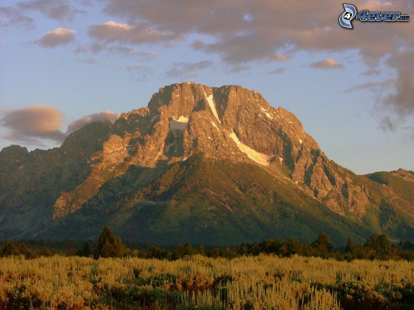 Mount Moran, Wyoming, montagne rocheuse