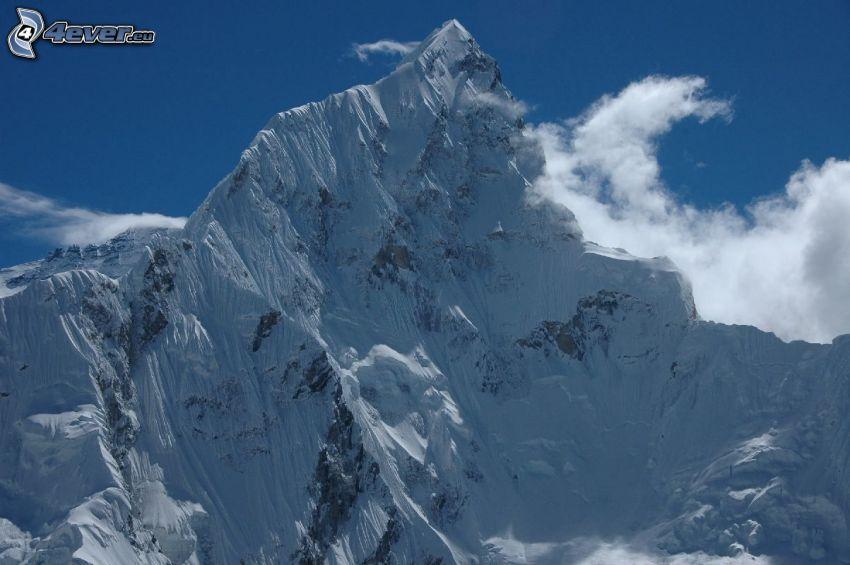 Mount Nuptse, montagnes enneigées, au Népal