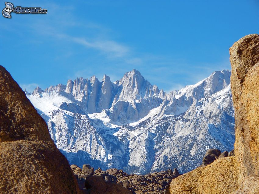 Mount Whitney, montagne rocheuse