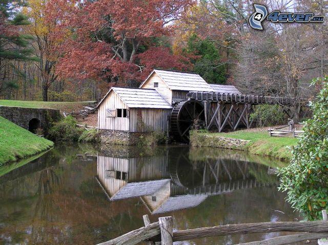 Mabry Mill, moulin à eau, rivière, forêt