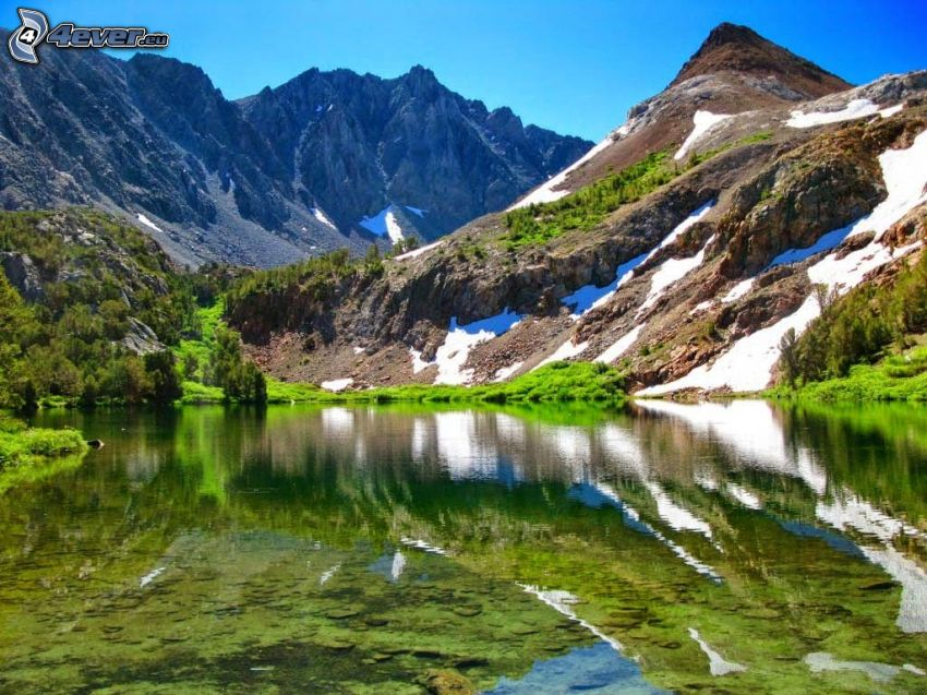 montagnes rocheuses, lac