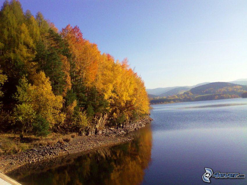 nature, barrage, réservoir d'eau
