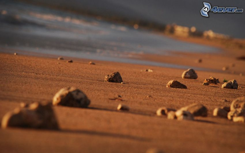 pierres, sable