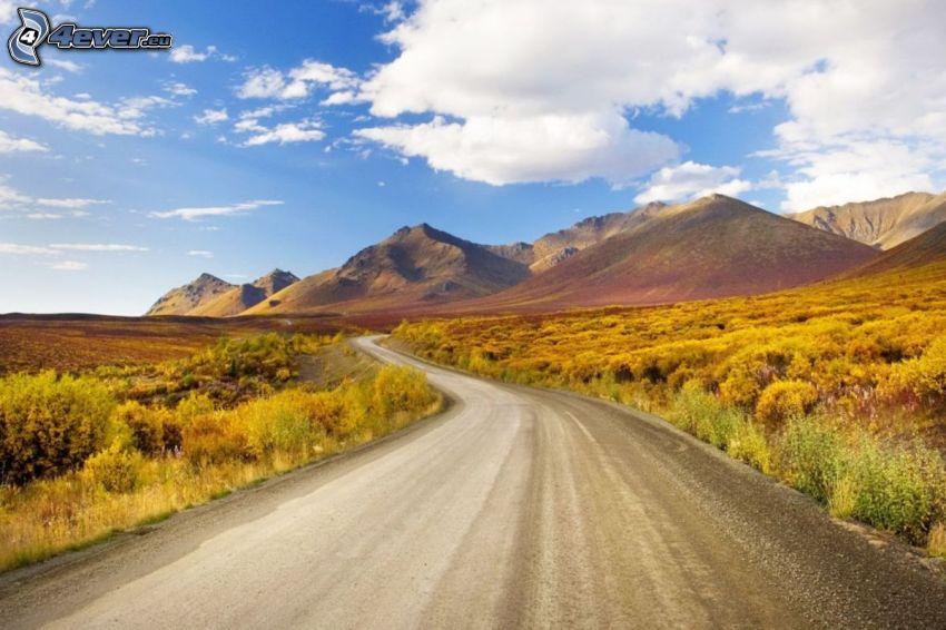 route, collines