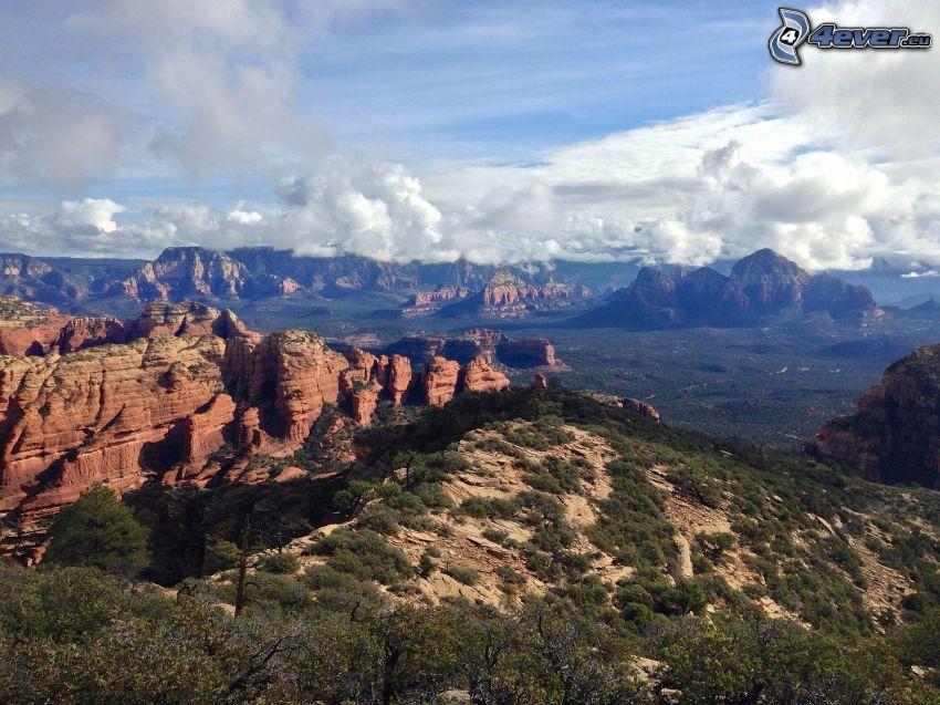 Sedona - Arizona, rochers, vallée