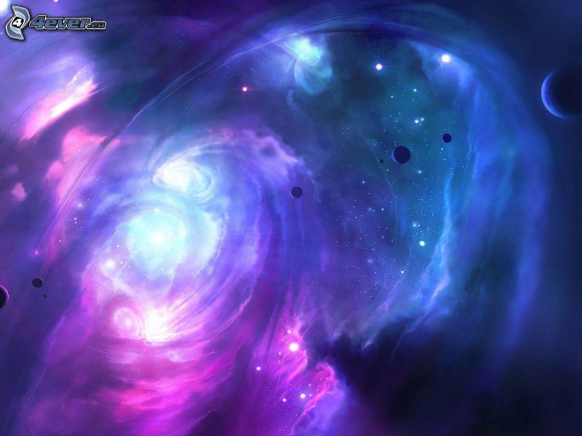galaxie, planètes