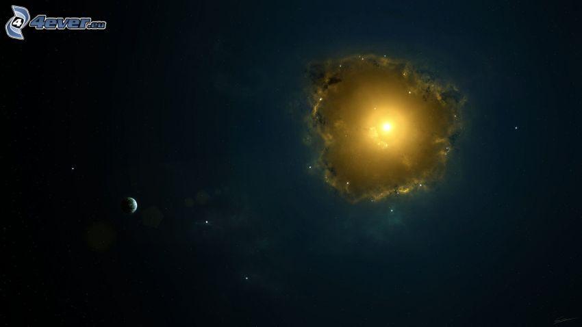 nébuleuse, planètes, étoiles