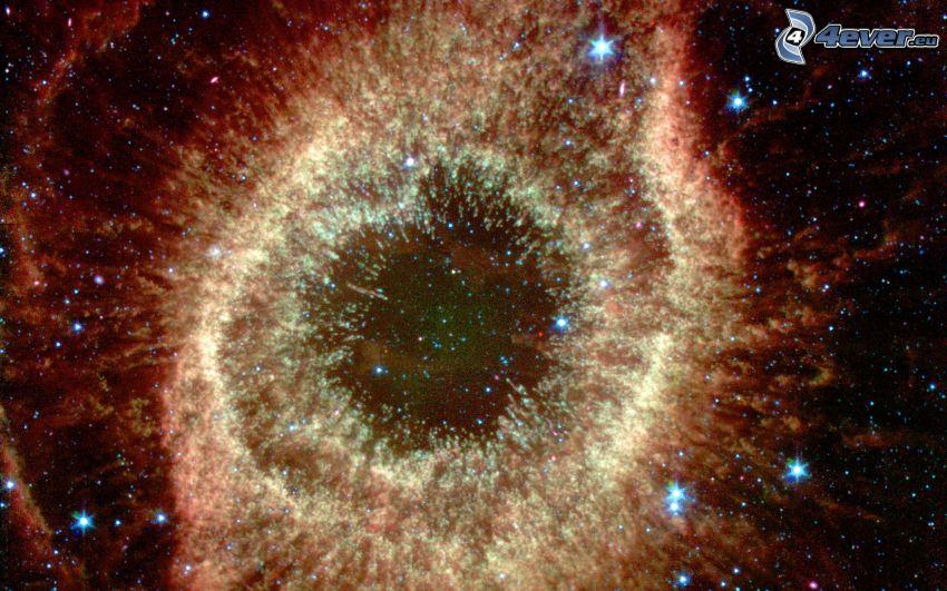 nébuleuse de l'Hélice, étoiles