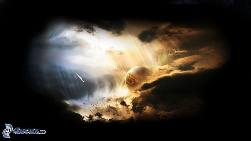 nuages, planète