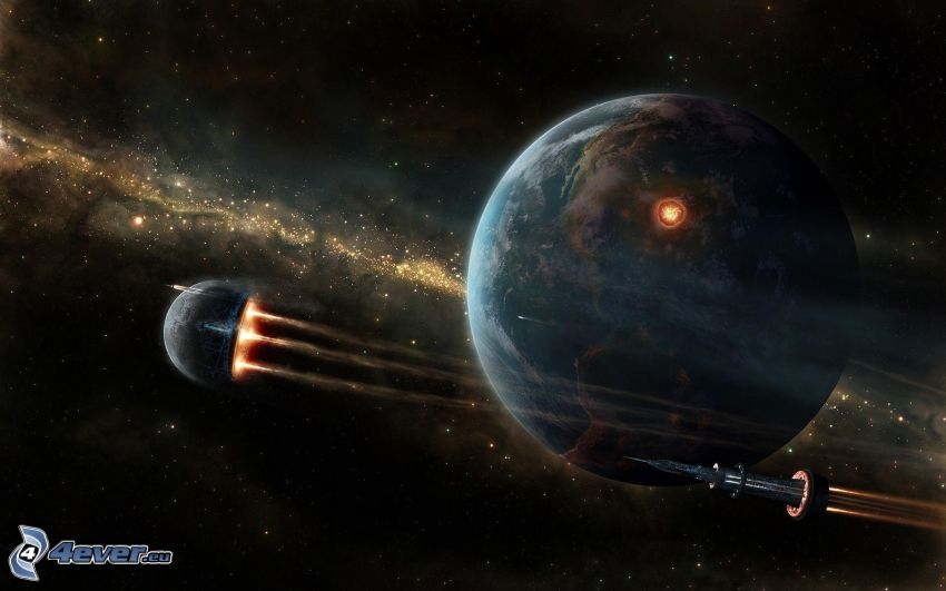 planète Terre, la fusée