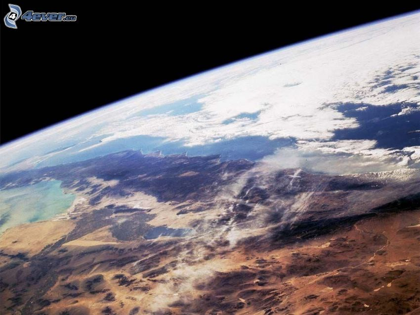 planète Terre, nuages, Vue de l'espace