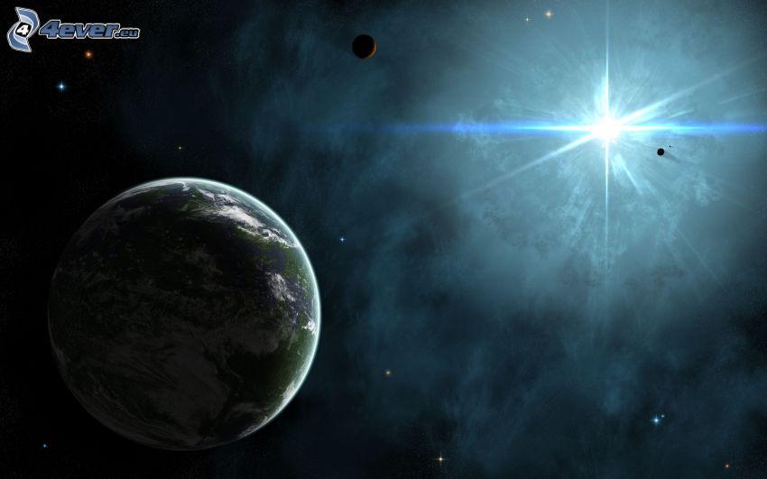 planète Terre, soleil, planètes