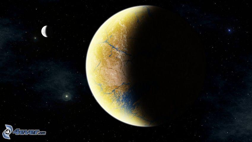 planètes, ciel étoilé
