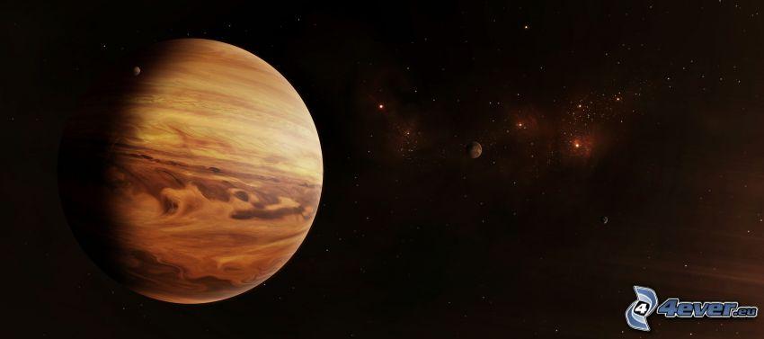 planètes, étoiles