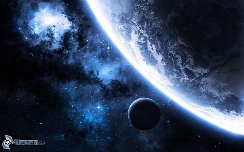 planètes, nébuleuses, étoiles