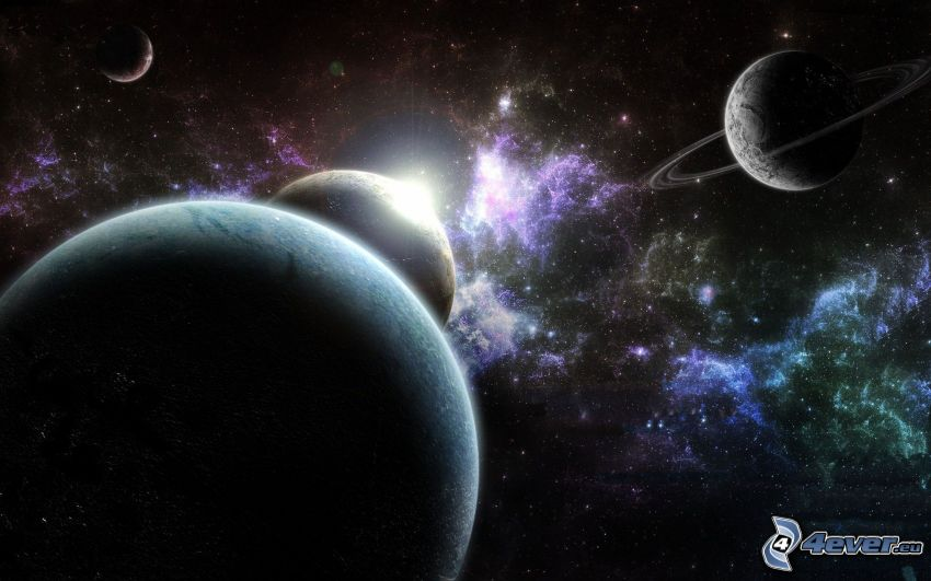 planètes, nébuleuses