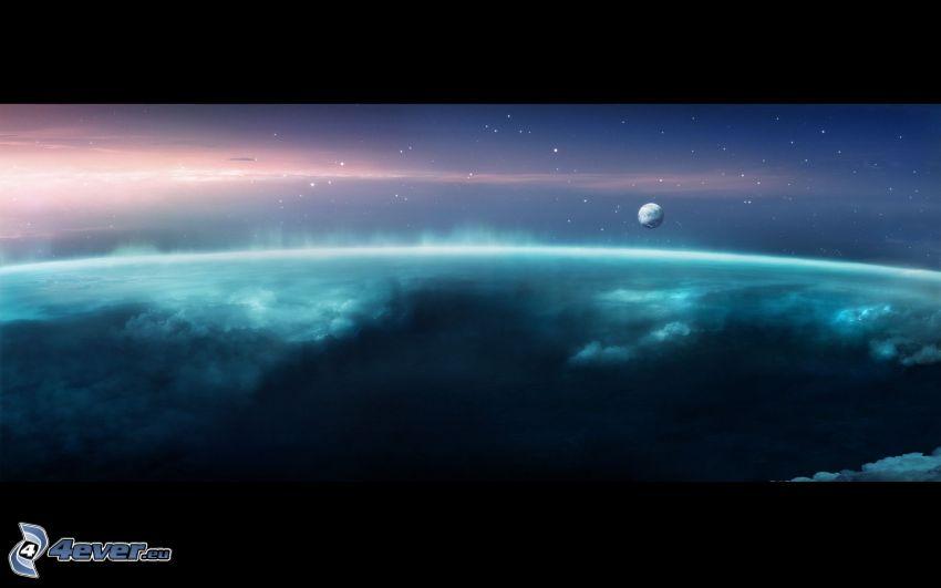 Terre, aurore polaire, planète