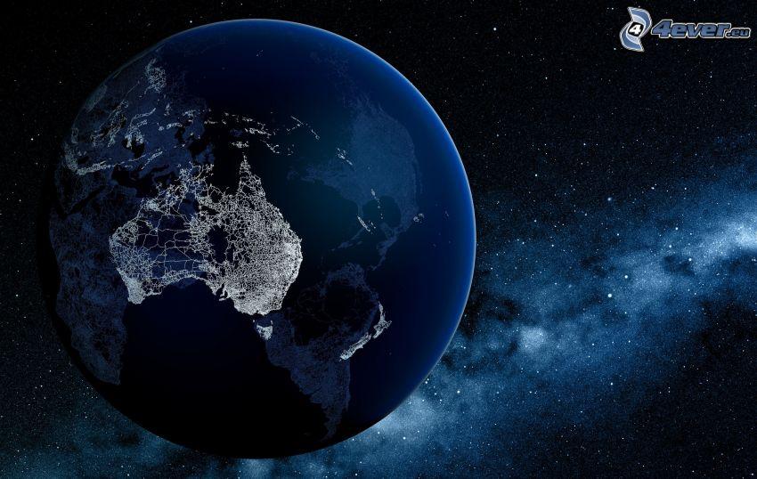Terre, Australie, étoiles