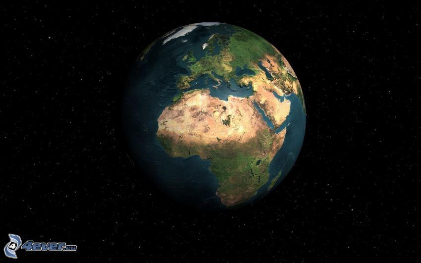 Terre, étoiles