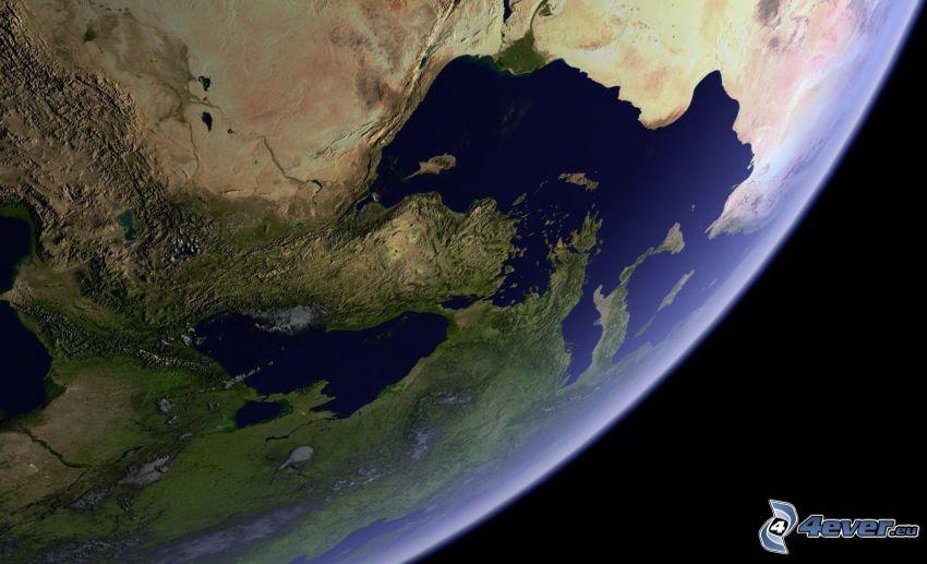 Terre, mer Méditerranée