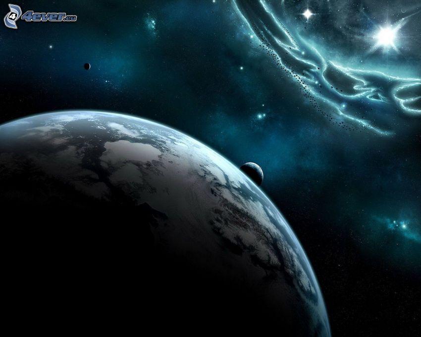 univers, planètes, étoiles