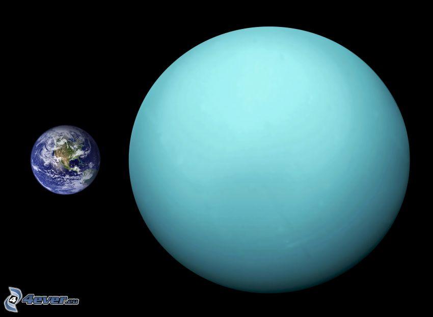 Uranus, Terre