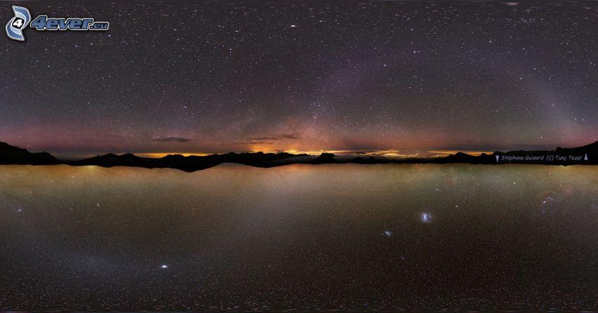 Voie lactée, galaxie, l'horizon