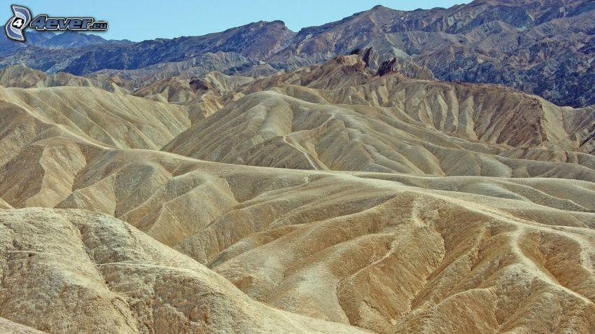 Vallée de la Mort, collines