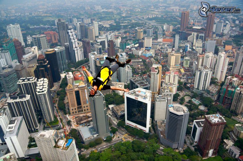 BASE Jump, gratte-ciel