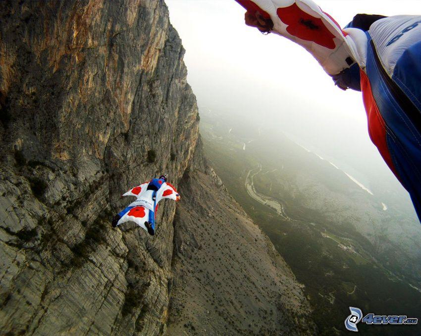 BASE Jump, rochers