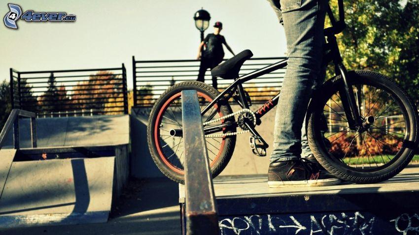 cyclistes, BMX