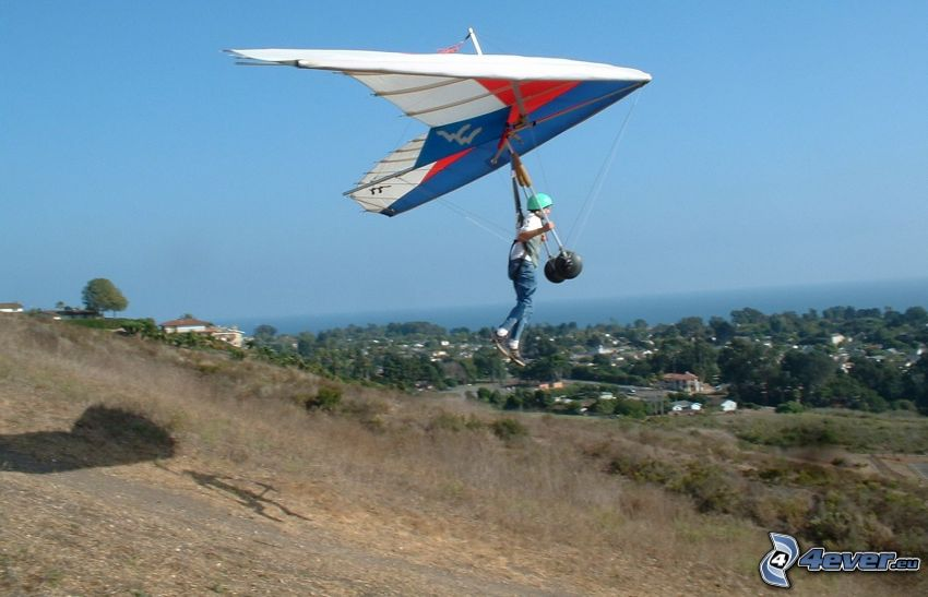 deltaplane, décollage
