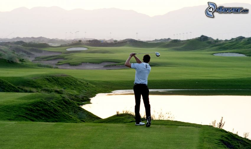 golf, Golfeur, terrain de golf