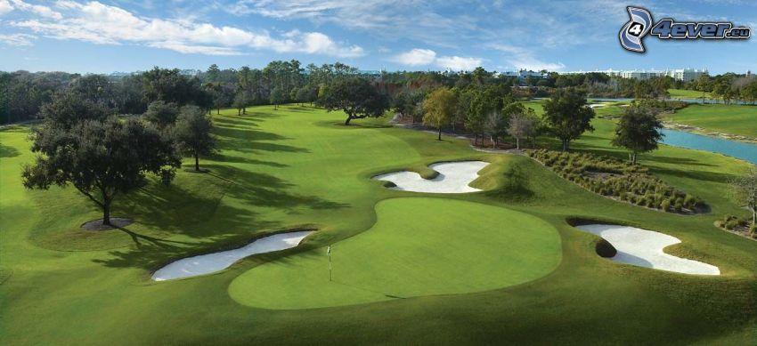 golf, terrain de golf