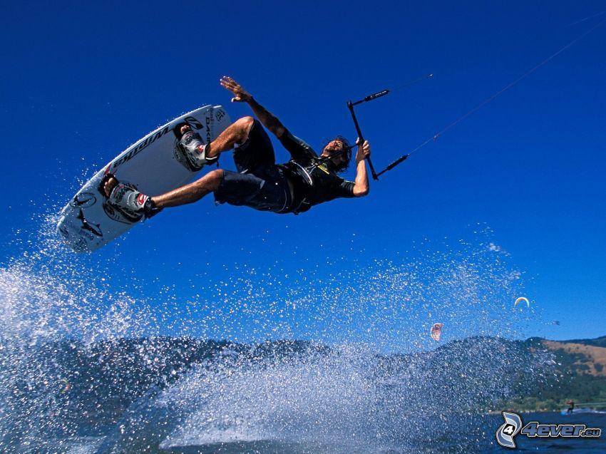 kitesurf, gouttes d'eau
