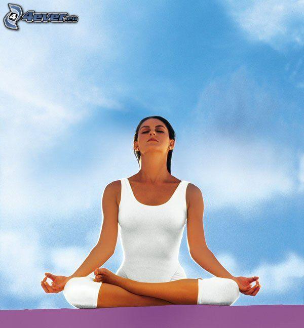 méditation, yoga, sit turc, repos